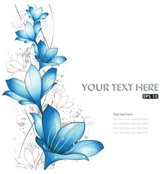 blue lilies design vector image