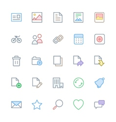 User interface colored line icons 1 vector