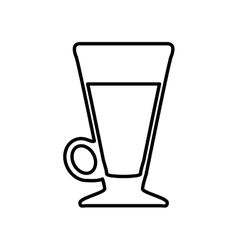 Coffee mug glass icon drink design vector