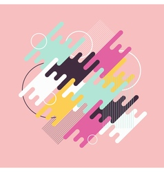 Abstract dynamic geometric background vector