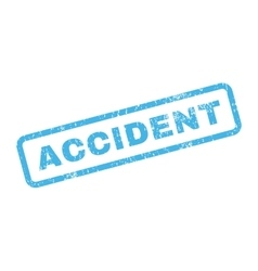 Accident text rubber stamp vector