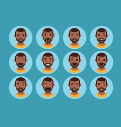 american african men facial expression vector image vector image