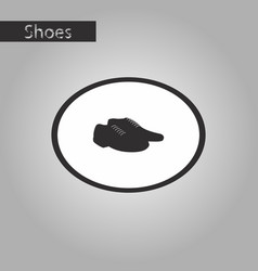black and white style icon pair of mens shoes vector image vector image