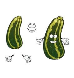 Cartoon striped green zucchini vegetable vector