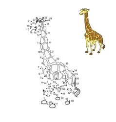 Connect the dots to draw animal vector image