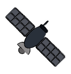 Drawing satellite telecommunication transmitter vector