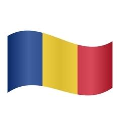 Flag of romania waving vector