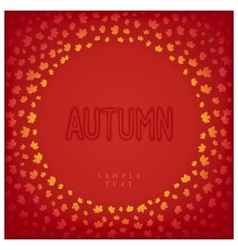 Greeting autumn card vector image
