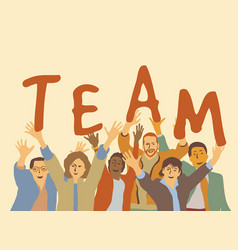 happy team group people vector image vector image