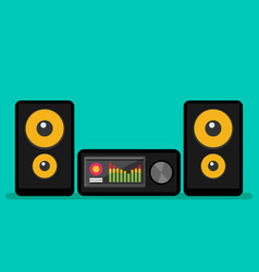 Home stereo flat music systems vector