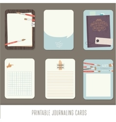 Journaling cards notes stickers labels tags vector image