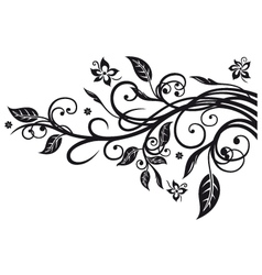 Leaves flowers vector