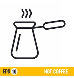 line icon hot coffee vector image