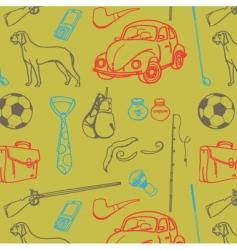 men stuff seamless pattern vector image