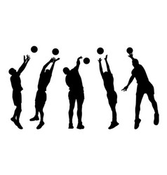 Men volleyball players vector