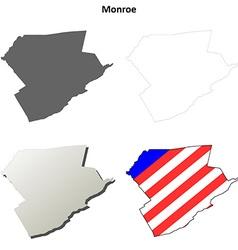 Monroe map icon set vector