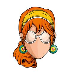 retro woman icon vector image vector image