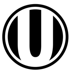 Round u logo vector
