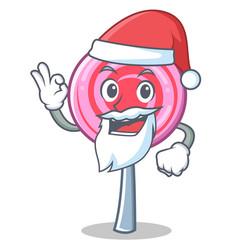 santa cute lollipop character cartoon vector image