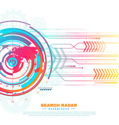 search radar background vector image