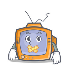 Silent tv character cartoon object vector