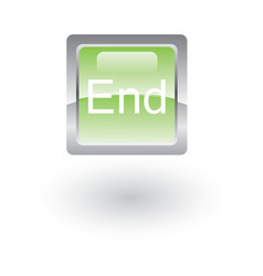 square glossy icon end vector image vector image