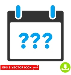 Unknown day calendar page eps icon vector