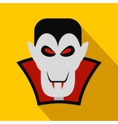 Vampire dracula flat icon vector