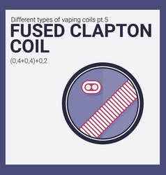 vaping coil part of big set vector image