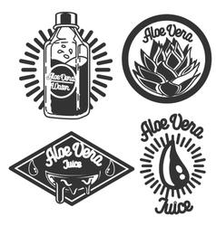 Vintage Aloe vera emblems vector image