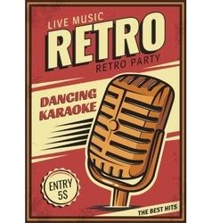 Vintage banner retro party vector image vector image