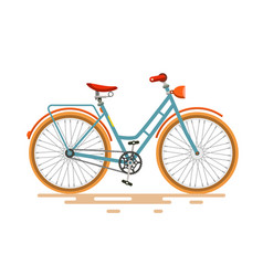 vintage bike retro bicycle isolated on white vector image