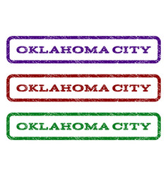 oklahoma city watermark stamp vector image