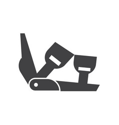 Ski binding icon vector