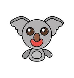 draw koala animal comic vector image