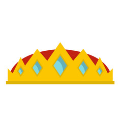 Small crown icon isolated vector