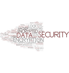 Encrypted word cloud concept vector