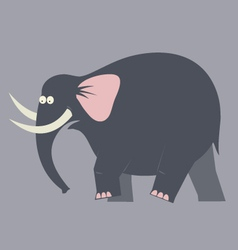 Elephant moving color vector