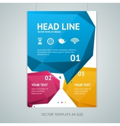 Abstract geometric bubble speech brochure vector