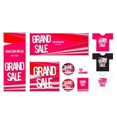 Set of template for grand sales design vector