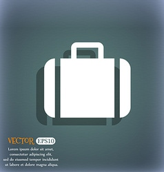 Suitcase icon symbol on the blue-green abstract vector