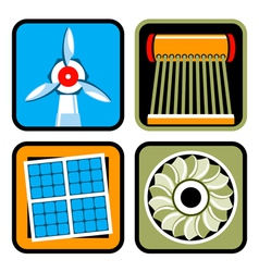 Alternative energy icon set vector