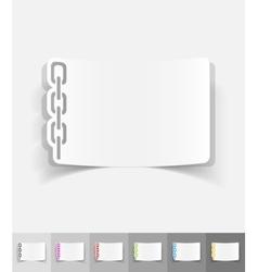 realistic design element chainlet vector image