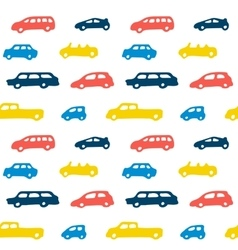 Car toy color seamless pattern background vector