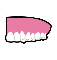 Teeth and mouth icon dental care design vector