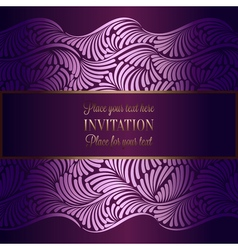 Abstract background with antique luxury violet vector