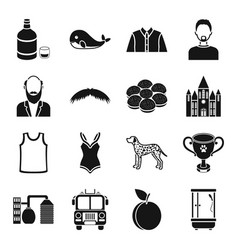 atelier style fashion and other web icon in vector image vector image