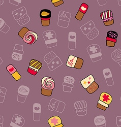 Background with sweets for cook books or wrapping vector image