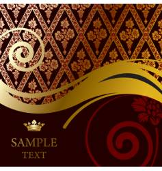 baroque background vector image vector image