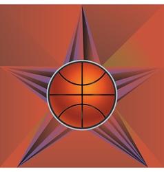 Basketball ball on rays background4 vector